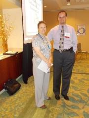 LIz Bullard and Jeffrey Schrade, co-teachers of the Instructional Design session