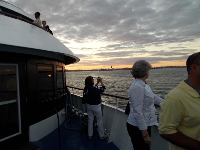 On deck on the Spirit of Boston