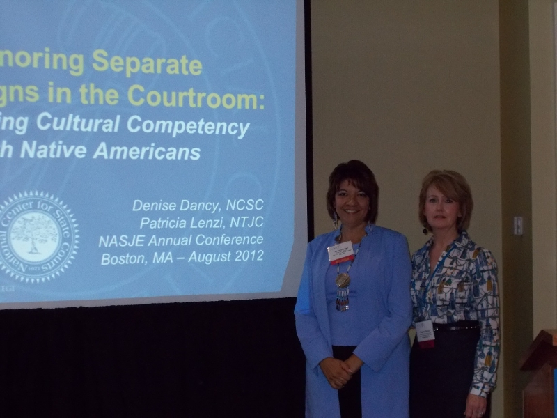 Pat Lenzi and Denise Dancy in their session Enhancing Cultural Competency with Native Americans