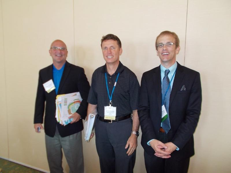 Three past presidents: Tom Langhorne, William Brunson, Joseph Sawyer