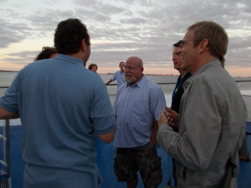 Todd Brower et al on deck of the Spirit of Boston