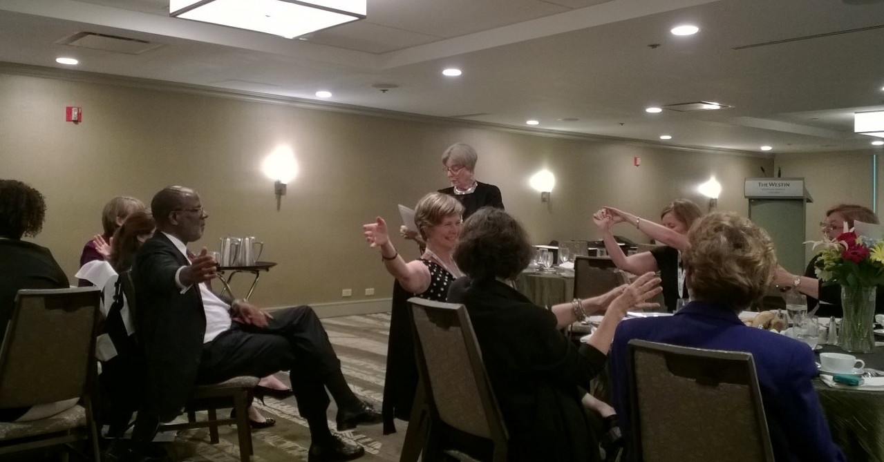 Dr. Patricia Murrell leads NASJE Conference attendees in an experiential learning activity.